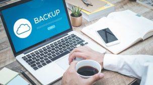 notebook executando backup